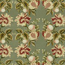 Sage/Berry Botanical Decorator Fabric by Lee Jofa