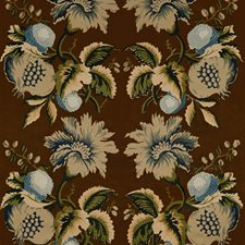 Sepia/Indigo Botanical Decorator Fabric by Lee Jofa