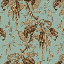 Sky/Brown Toile Decorator Fabric by Lee Jofa