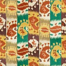 Rust/Emerald Ikat Decorator Fabric by Lee Jofa