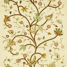 Tea/Multi Jacobeans Decorator Fabric by Lee Jofa
