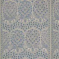Blue/Indigo Botanical Decorator Fabric by Lee Jofa