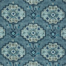 Marine/Sky Ethnic Decorator Fabric by Lee Jofa
