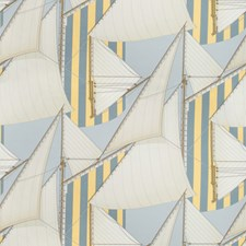 Blue/Yellow Novelty Decorator Fabric by Lee Jofa