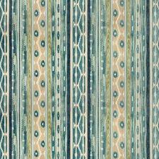 Blue/Aqua Ethnic Decorator Fabric by Lee Jofa