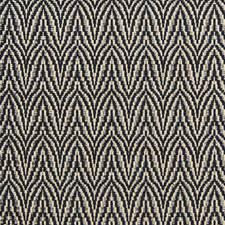 Navy Herringbone Decorator Fabric by Lee Jofa