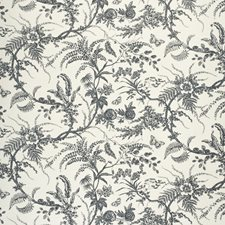Navy Botanical Decorator Fabric by Lee Jofa