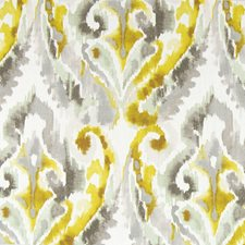 Yellow Ikat Decorator Fabric by Greenhouse