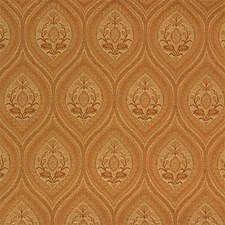 Yellow/Beige Damask Decorator Fabric by Kravet
