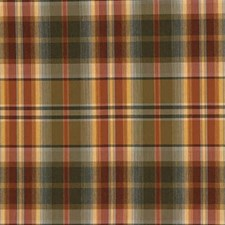 Green/Rust Plaid Decorator Fabric by Kravet