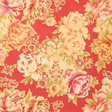 Scarlet Floral Decorator Fabric by Fabricut
