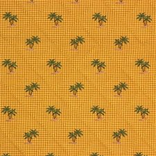Yellow/Green/Brown Tropical Decorator Fabric by Kravet