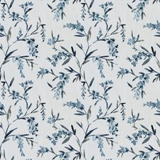 Azure Floral Decorator Fabric by Trend