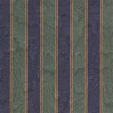 Blue/Green/Burgundy Stripes Decorator Fabric by Kravet