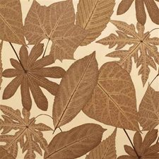 Brown Botanical Decorator Fabric by Groundworks