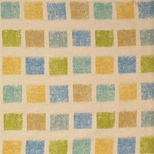 Nat/Bl/Yel Geometric Decorator Fabric by Groundworks
