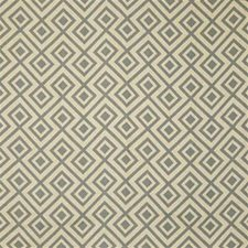 Grey Geometric Decorator Fabric by Groundworks