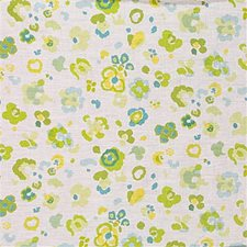Ivory/Cel Print Decorator Fabric by Lee Jofa