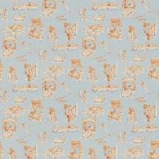 Bleu/Mandarine Novelty Decorator Fabric by Vervain