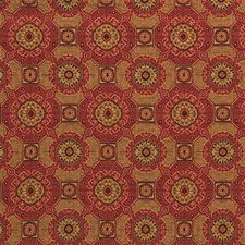Yellow/Rust/Beige Contemporary Decorator Fabric by Kravet