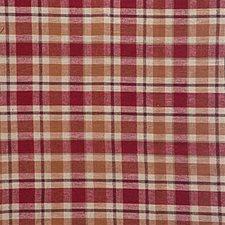 Burgundy/Red/Beige Plaid Decorator Fabric by Kravet