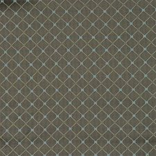 Brown/Blue Diamond Decorator Fabric by Kravet