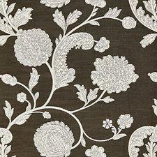 Ivory On Bitter Chocolate Decorator Fabric by Scalamandre
