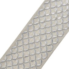 Lattice Silver Trim by Stroheim
