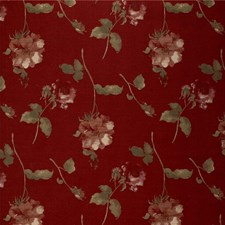 Burgundy/Red/Green Botanical Decorator Fabric by Kravet