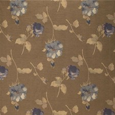 Beige/Blue/Yellow Botanical Decorator Fabric by Kravet
