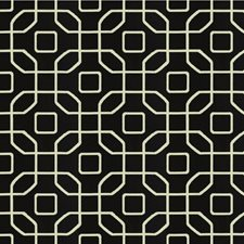 Black Ink Geometric Decorator Fabric by Kravet