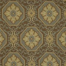 Blue Mist Medallion Decorator Fabric by Kravet