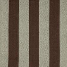 Brown/Blue Stripes Decorator Fabric by Kravet
