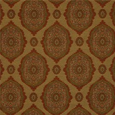 Yellow/Rust/Green Damask Decorator Fabric by Kravet