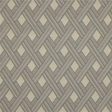 Beige/Light Blue Diamond Decorator Fabric by Kravet