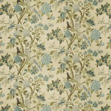 Blue Heaven Floral Decorator Fabric by Fabricut