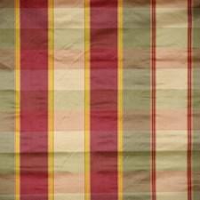 White/Plum/Greens Plaid Satin Decorator Fabric by Scalamandre