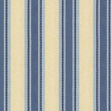 Beige/Blue/Light Blue Stripes Decorator Fabric by Kravet