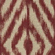 Beige/Burgundy/Red Ikat Decorator Fabric by Kravet