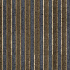 Brown/Blue/Beige Stripes Decorator Fabric by Kravet