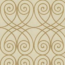 Beige/White Ethnic Decorator Fabric by Kravet