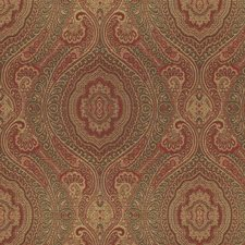 Burgundy/Red/Yellow Damask Decorator Fabric by Kravet
