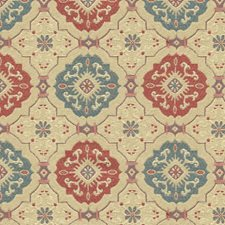 Beige/Burgundy/Red Modern Decorator Fabric by Kravet