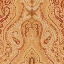 Yellow/Orange/Beige Damask Decorator Fabric by Kravet