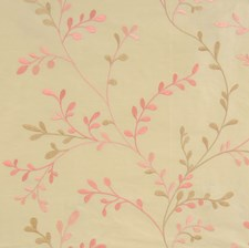 Coral Bean Leaves Decorator Fabric by Fabricut