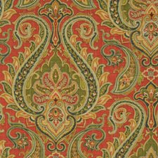 Rouge Paisley Decorator Fabric by Fabricut