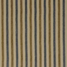 Blue Gold Stripes Decorator Fabric by Fabricut