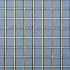 Alice Blue Plaid Decorator Fabric by Duralee