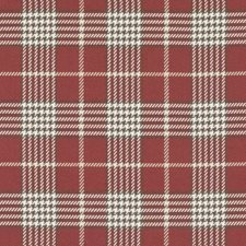 Red Plaid Decorator Fabric by Duralee