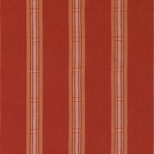 Red Pepper Stripe Decorator Fabric by Duralee